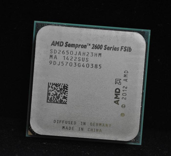 AMD Sempron 2650 送原廠風扇 (AM1 2.5G 25W 1M 2C2T) 3850 參考