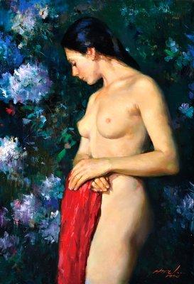 [客人寄賣] 陳輝東 油畫 裸女 72.5X50cm
