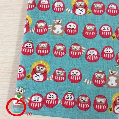 *樂芙領巾/手作*粉底日本浣熊與不倒翁款(日本布),嬰兒/兒童三角巾、口水巾、圍兜,可訂製大小及親子領巾