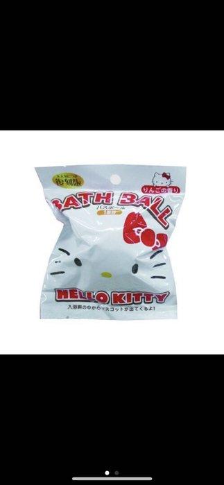 日本進口 Hello Kitty 復刻版 泡澡球 沐浴球 入浴劑 泡泡球 (內有隨機玩具公仔)