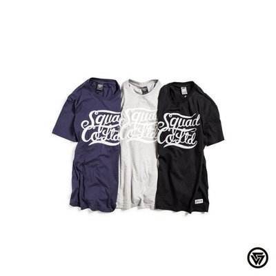 (MARVELOUS) SQUAD S/S SQDCO Cursive Embroidery 草寫手搖繡T-Shirt