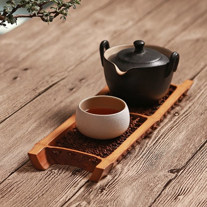 貓先生  手工竹節 茶托盤杯 托 棕毛 編織杯墊  竹制干 炮臺功夫 茶道茶具 配件