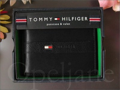Tommy Hilfiger TH 皮夾 皮包 鈔票夾 可拆式 ID夾中夾 短夾 禮盒 黑色缺貨免運費 愛Coach包包
