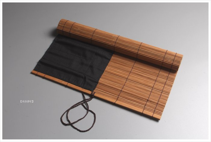 【禾洛書屋】書畫竹色毛筆捲簾(小29*30cm)〈內縫製布面筆套〉毛筆收納攜帶/筆袋/筆簾