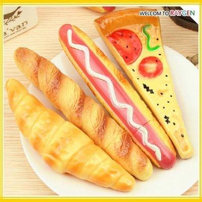 八號倉庫  文具 披薩熱狗牛角麵包食物造型圓珠筆 冰箱貼【2C245Y687】