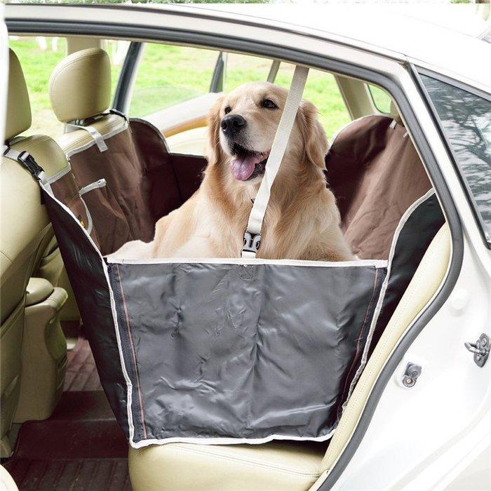 petsfit 質感狗貓外出 寵物車載墊 狗狗車墊耐抓防髒寵物墊寵物後座車墊防水墊[深咖] ♥目前預購期約12天