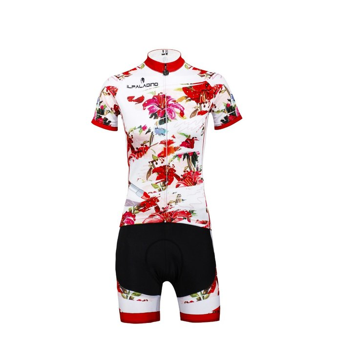 【Paladin】女款短袖車衣褲套裝 :: 紅百合