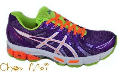 *Chez Moi *來我家~ [亞瑟士] 女慢跑鞋 GEL-EXALT 紫/螢光橘 瘋狂價 $2000 免運費