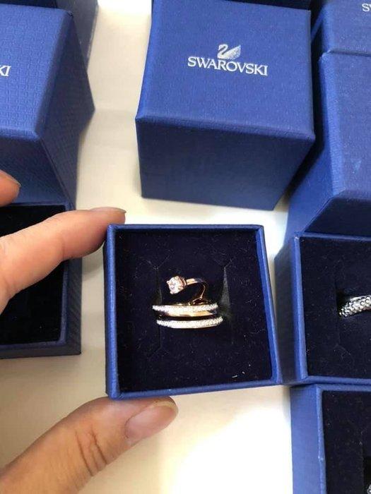 施華洛世奇 戒指  流星造型  零碼52號 (6號)帶盒