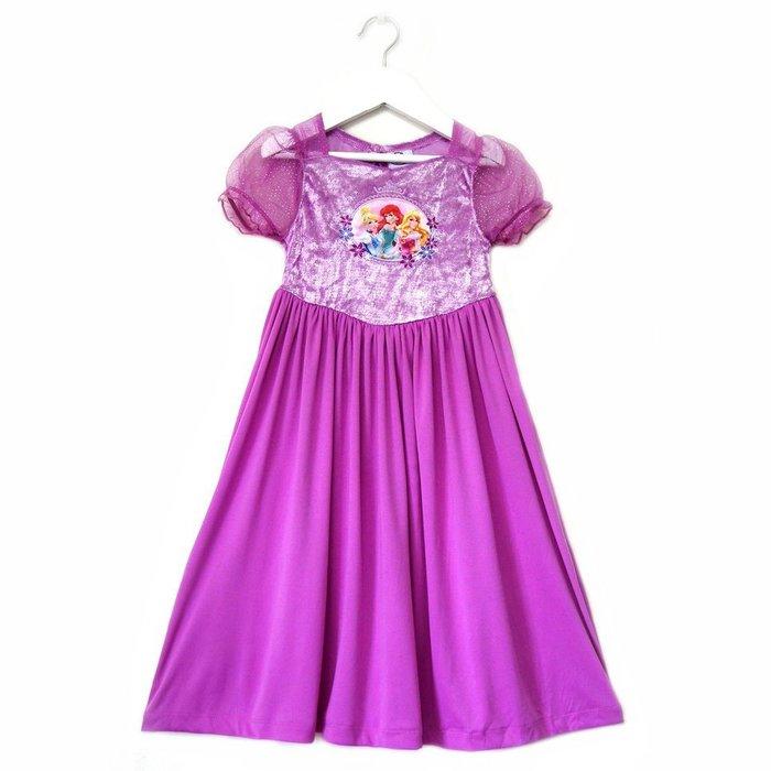 女童精緻刺繡金蔥公主袖洋裝3T