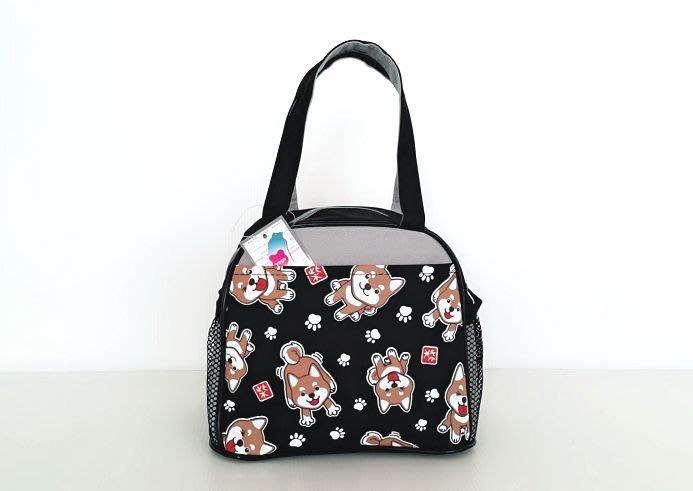 【YOGSBEAR】 台灣製造 A2 午餐袋 三色碗袋 便當袋 野餐包 手提袋 手提包 B01 黑色