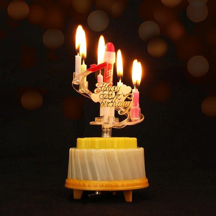 生日音樂蠟燭 創意焰火蓮花 兒童七彩旋轉浪漫表白 蛋糕裝飾擺件批發_☆找好物FINDGOODS ☆