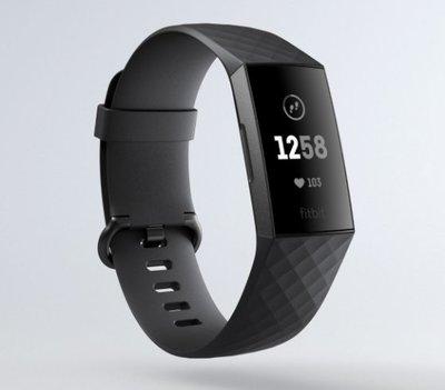 【丹尼小舖】美國Fitbit Charge 3 全新進階版健康運動手環 標準版(雙錶帶)