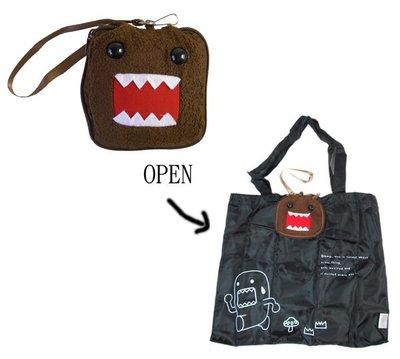 【卡漫迷】DOMO Kun 手提袋  ㊣版  多摩君 購物袋 (可摺疊收納) ~ 1 6 0 元