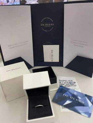 近全新De Beers Talisman Azulea 18K白金戒指