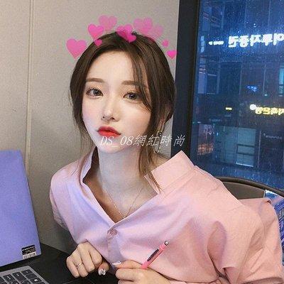 DS_08網紅時尚2019春季新款正韓心機設計感超仙女vetiver襯衫女很仙的上衣襯衣