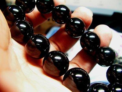 **結緣水晶**高檔漂亮的,黑碧璽手鍊,16MM,96.2公克,喜歡的朋友參考看看,全館特賣免運費(19)