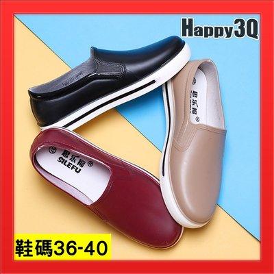 平底雨鞋工作鞋男鞋雨靴防水鞋39百搭素色款40-黑/紅/棕36-40【AAA4682】