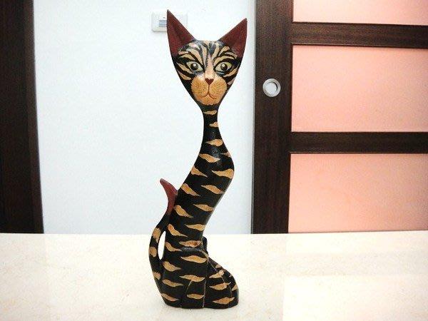 【永晴峇里島】巴里島S形木製貓咪擺飾,居家,民宿,飯店都好用-擺飾11