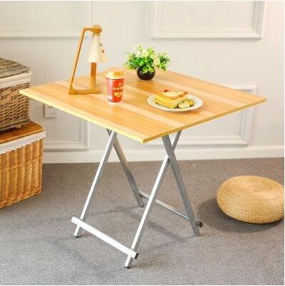 折疊桌間易小桌子便攜擺攤桌宿舍學習桌正方形小護型4人家用餐桌igo