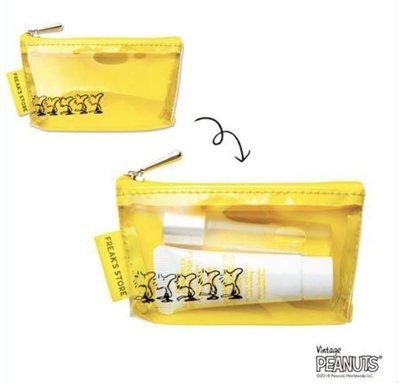 兔日殿~日本In Red雜誌附錄 FREAK'S STORE x SNOOPY 史努比聯名透明視窗小物包 收納包 化妝包