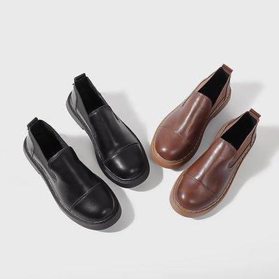 娃娃鞋牛津鞋休閒鞋 小皮鞋女夏季薄款英倫風復古圓頭黑色平底一腳蹬學生百搭韓版女鞋