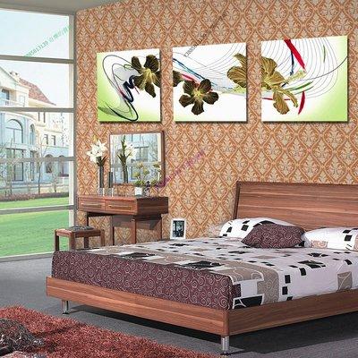 【40*40cm】【厚1.2cm】清新曲線-無框畫裝飾畫版畫客廳簡約家居餐廳臥室牆壁【280101_048】(1套價格)