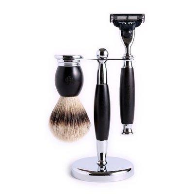 英國 Grand Manner 尊爵系列 修容刮鬍套組(黑檀木 / 鋒速3 Mach3)送禮 禮物 生日 父親節 情人節