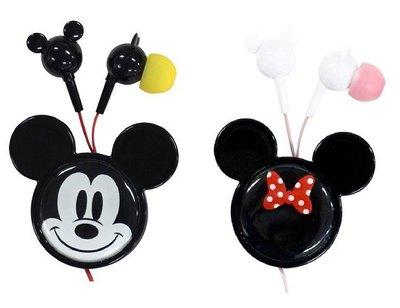 尼德斯Nydus~* 日本正版 迪士尼 Mickey Minnie 米奇 米妮 捲線器 收納便利 耳機 3.5mm