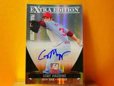 Cory Mazzoni 2011 Donruss Elite Autograph 新人簽名卡 RC 限433