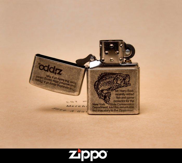 Zippo 打火機 鯉魚 傳奇故事 煤油 防風 古銀做舊版 菸友必備 經典小物 美國原廠 經典復刻版 全新正品