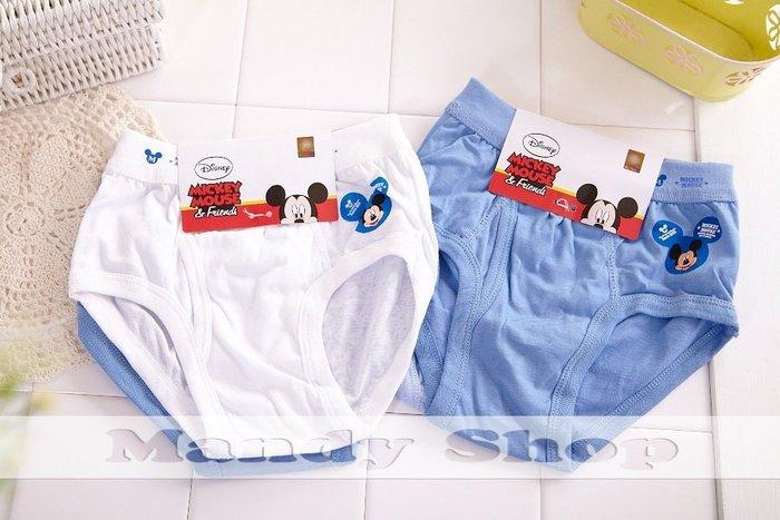 mandyshop【92301】台灣製 ㊣ Disney迪士尼米奇兒童內褲 / 3角褲 - 2 件組