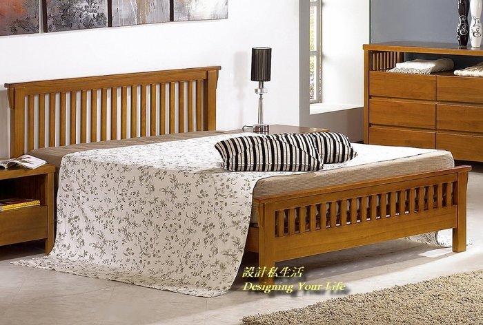 【設計私生活】魯娜柚木色6尺雙人床架、床台(全館一律免運費)A系列-106S
