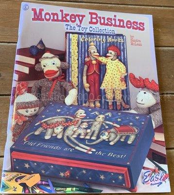 小熊森林鄉村彩繪~W-052 二手美書~Monkey Business(The Toy Collection)