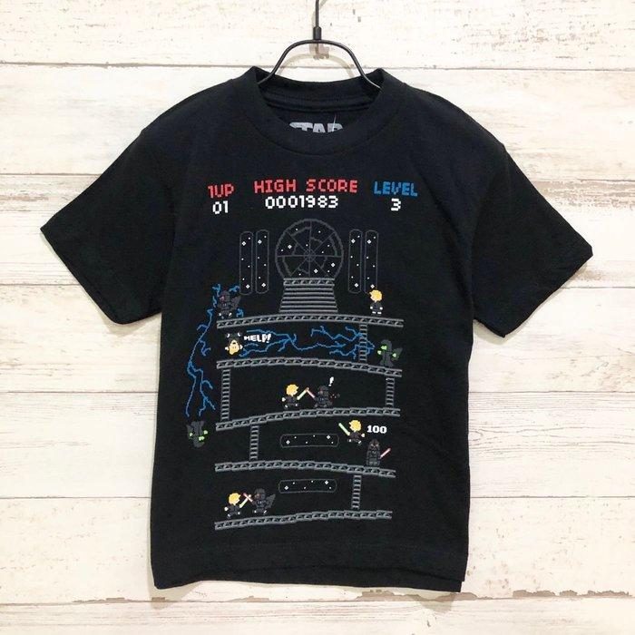 Maple麋鹿小舖 美國百貨購買童裝 STAR WARS  男童黑色圖樣短T * ( 現貨4號 )