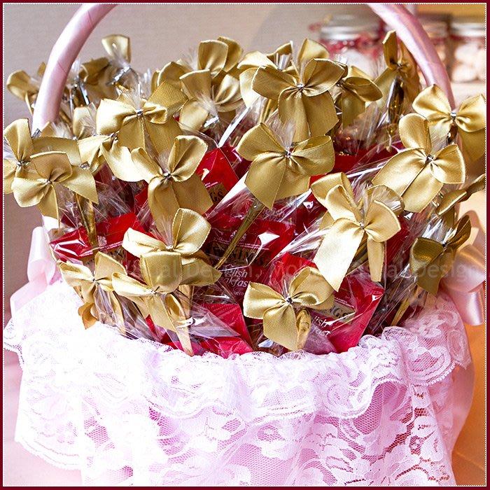 【日暖-唐寧英倫茶包玫瑰湯匙組(金緞)X100份+大提籃X1個】--送客禮/迎賓禮/二次進場/婚禮小物/幸福朵朵