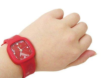 【FULL HOUSE 】日本人氣品牌  agnes b. ab To b. 紅 橡膠手錶 現貨 SALE