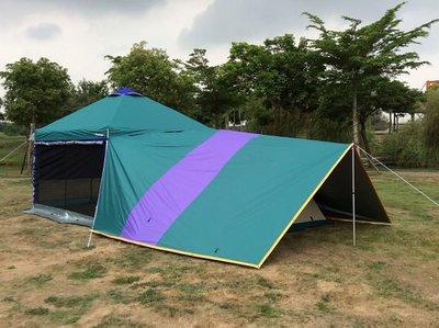 【SAMCAMP 噴火龍】3M*3M直腳/客廳帳 - 專用延伸天幕(全罩式) ※ 可連結並覆蓋帳篷使用