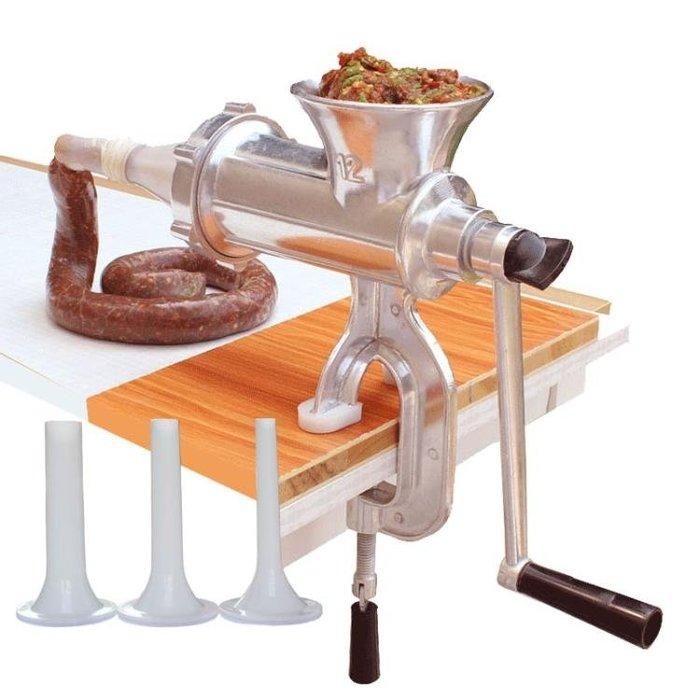 灌腸機家用手動絞肉機手搖小型灌香腸機臘腸機罐裝香腸器絞餡機