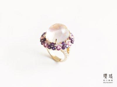 粉晶 高級 寶石 純銀 珠寶 戒指 - 瓔珞inlove - 104120101