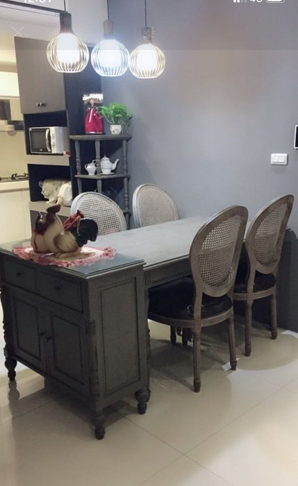 【CH22】上福 利百加家具 亞麻釘扣 法式橡木古典餐椅 鄉村風書桌椅 辦公椅 實木餐椅 可訂製 美式 義大利