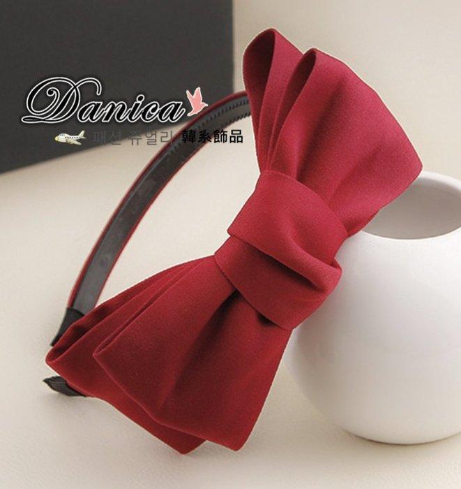 髮飾 現貨 韓國 熱賣 氣質 甜美 女神 雙層 大 蝴蝶結 髮箍 K7491 Danica 韓系飾品 韓國連線