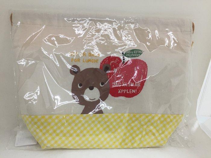 日本 小熊束口保冷袋便當袋