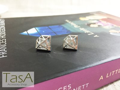 TasA Accessory shop-金屬鑽石閃爍耳環(銀色) 台北市