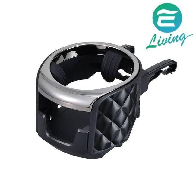 【易油網】SEIWA 冷氣孔手機飲料架黑 W980