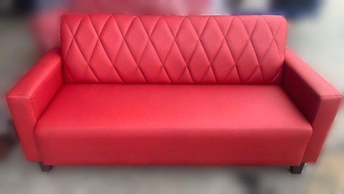 宏品二手家具館- 台中全新中古傢俱拍賣 SX14DB*全新紅色3人皮沙發* 電視櫃 書櫃滿千送百豐富喜悅新竹台北南投苗栗