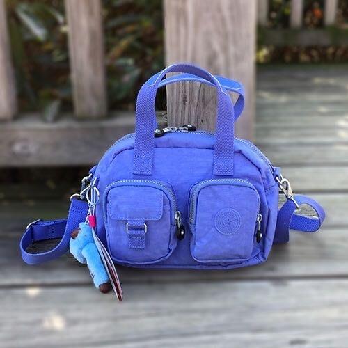 Kipling 猴子包 K14259 藍紫 小號 多夾層拉鍊款輕量手提肩背斜背包 限時優惠 另有大號 防水