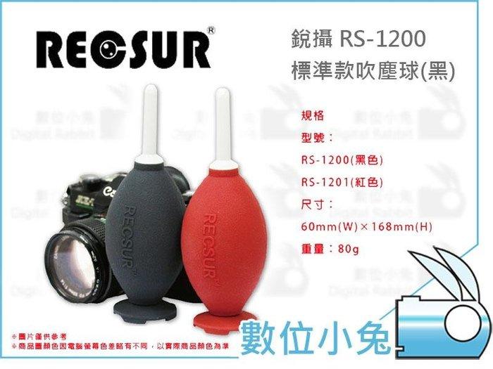 數位小兔【RECSUR RS-1200 / 1201 標準款吹塵球】銳攝 公司貨 吹氣球 雙氣囊 吹力強 無臭無毒 吹球