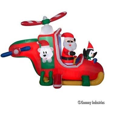 有動作充氣老公/企鵝/熊乘飛機,聖誕佈置/充氣擺飾好收納/聖誕充氣,節慶王【X007817】
