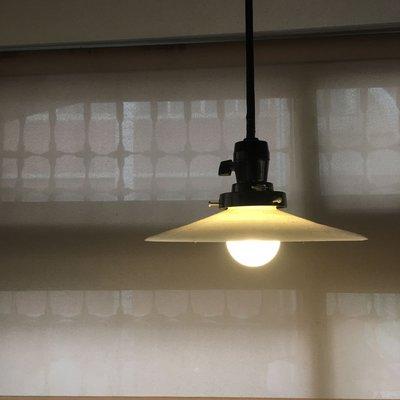 日治時期奶油盤燈